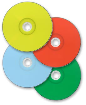 image regarding Printable Cds known as Thermal Printable CD-R DVD-R media in just vacation spot hues